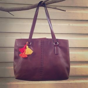 Leather Fossil Tote